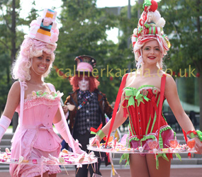 ALICE IN WONDERLAND THEMED CANDY AND CANAPE TRAY GIRLS LONDON & ESSEX HIRE