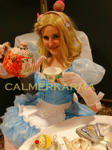 ALICE IN WONDERLAND THEMED FORTUNE TELLERS - ALICE TEA LEAF READER FOR  LONDON  PARTIES