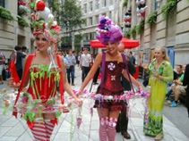CANDY HOSTESSES AND LIVING CANAPE TABLES KISS MY LOLLIPOP + WONKA BONKERS