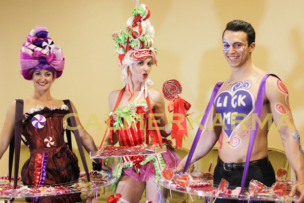 WILLY WONKA THEMED ENTERTAINMENT -CANDY HOST- LICK ME + SWEETIE GIRLS WONKA BONKERS + kISS MY LOLLIPOP - WALES