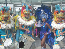 Carnival Dancers and Drummers - London Eye