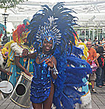 Carnival dancers and drummers - The London Eye