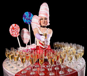 CHARLIE CHOCOLATE THEMED ENTERTAINMENT - LIVE DRINKS TABLE ACT HIRE