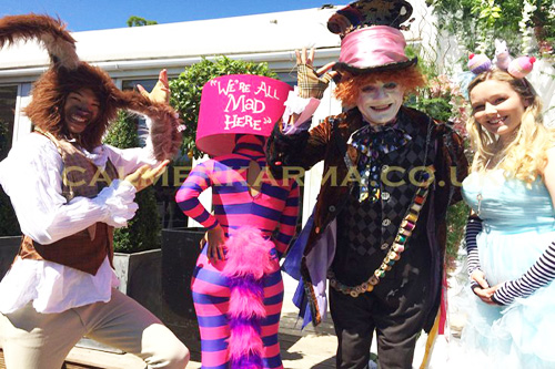ALICE IN WONDERLAND THEMED PERFORMERS - CHESHIRE CATS - THE SHADY CATS UK