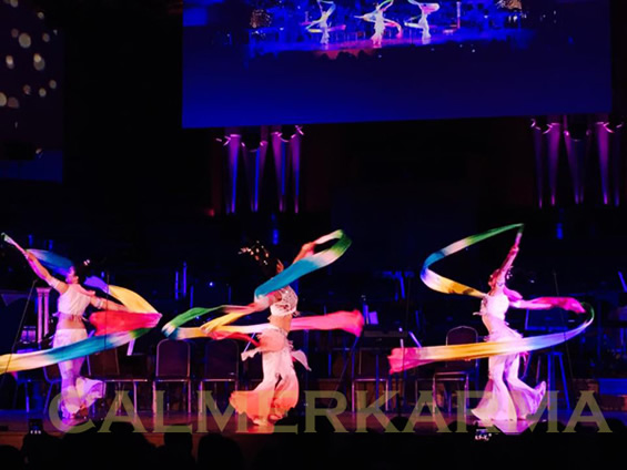 CHINESE DANCE ACTS TO HIRE - STUNNING STAGED RIBBON DANCE TROUPE