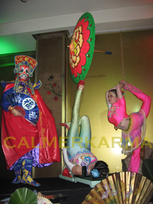 CHINESE THEMED PARTY ACTS- FOOT JUGGLING CONTORTION AND FACE CHANGING
