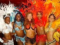 Rio Carnival themed dancers