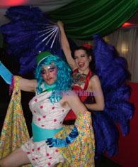 theatrical drag and burlesque dancer