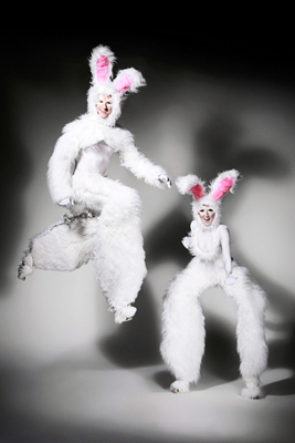 SPRING & EASTER THEMED ENTERTAINMENT BOUNCING RABBIT STILTS HIRE UK
