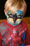 FACE PAINTER FOR CHILDRENS PARTIES - BATMAN