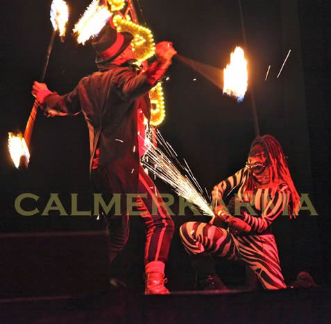 FIRE PERFORMERS - DRAMATIC STAGED FIRE & ANGLE GRIND - CIRCUS THEME- BIRMINGHAM