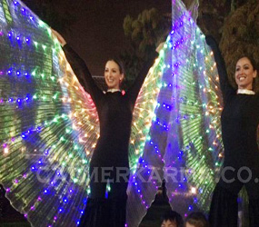 FUTURISTIC THEMED PARTIES - LIGHTWING STILT WALKERS - SCI FI ACTS TO HIRE