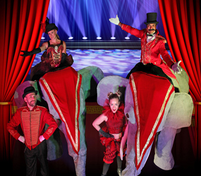 GREATEST SHOWMAN CIRCUS THEMED ENTERTAINMENT - STILT ELEPHANTS