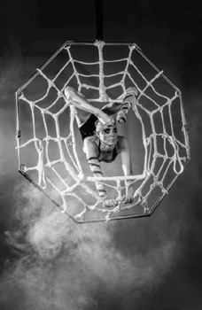 HALLOWEEN AERIAL ACTS TO HIRE - THE HORRID SPIDER ACT - UK
