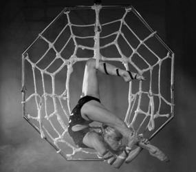 HALLOWEEN THEMED ENTERTAINMENT - AERIAL ACTS - SPIDER TO HIRE