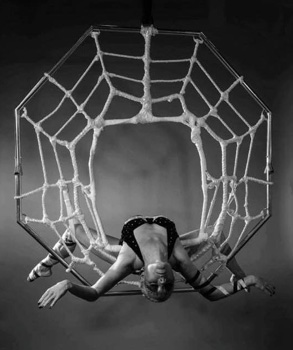 HALLOWEEN SPIDER ACT TO HIRE - DRAMATIC AERIAL SPIDER ACT UK