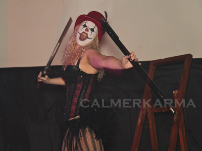 HALLOWEEN THEMED ENTERTAINMENT -SIDESHOW ACT- SWORD WALKING