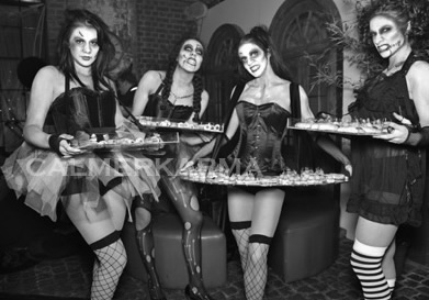 HALLOWEEN THEMED ENTERTAINMENT - ZOMBIE DOLL LIVING CANAPE HOSTESSES