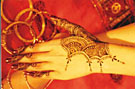 mehendi or traditional henna - lasts 5 to 7 days