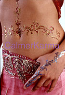 henna tattoos - shown here glamorous glitter henna