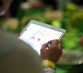 caricaturists to hire -IPad and traditional caricatures uk