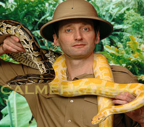 LIVE SNAKES WITH OUR JUNGLE OR RANFOREST EXPLORER WALKABOUT PERFORMER HIRE UK