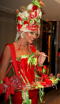 CANDY HOSTESSES + LIVING CANAPE HOSTESS - KISS MY LOLLIPOP