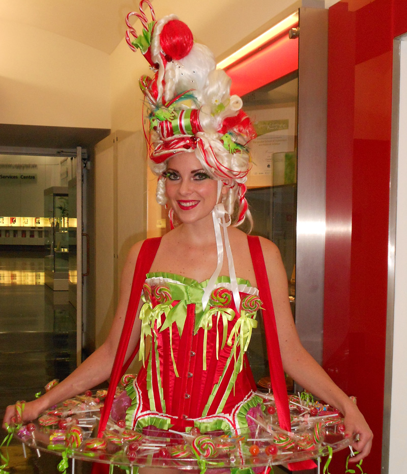 CANAPE AND CANDY HOSTESS ACT TO HIRE - XMAS PARTIES