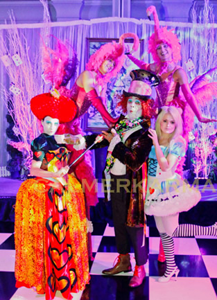 ALICE IN WONDERLAND THEMED ENTERTAINERS TO HIRE - LONDON MANCHESTER BRISTOL UK