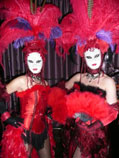 Moulin Rouge Themed living statues