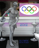 OLYMPIC THEMED LIVE STATUES- DISCUS LONDON AND UK