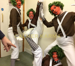 OOMPA LOOMPA DANCE TROUPE -STAGED & AMBIENT TO HIRE UK