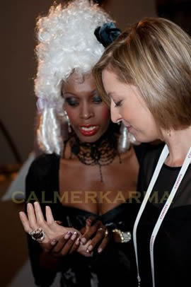 PALM READERS FOR PARTIES AND CORPORATE EVENTS -CANNES MASQUERADE THEMED PARTY