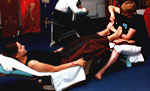 reflexology at corporate parties with Calmer Karma