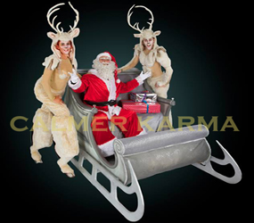 SANTAS SLEIGH AND REINDEER PERFORMERS TO HIRE