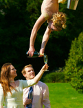 SUMMER PARTY ENTERTAINMENT - AERIAL CHAMPAGNE SERVICE