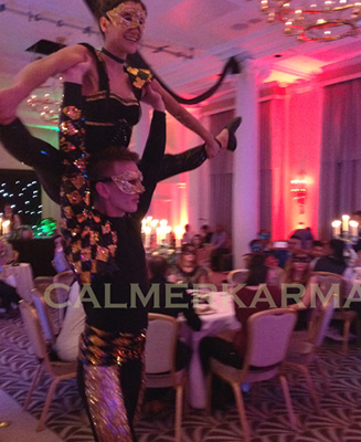MASKED BALL THEMED ACROBATS -MASQUERADE PARTY ACTS TO HIRE