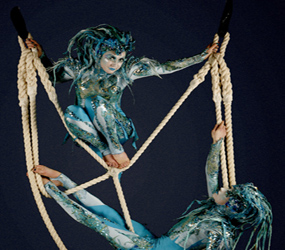 AERIAL ROPE DUO ACT - WATER THEMED