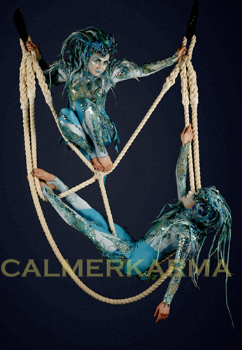 WATER AND SEA THEMED ENTERTAINMENT - THE SIREN ACROBATS -UK + WORLDWIDE HIRE