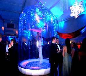 WINTER WONDERLAND PERFORMERS ACROBATIC ACTS TO HIRE - ACRO SNOW GLOBE
