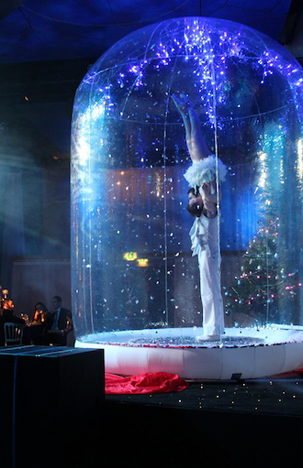 WINTER WONDERLAND THEMED ENTERTAINMENT -ICE GLOBE ACROBATS ACT