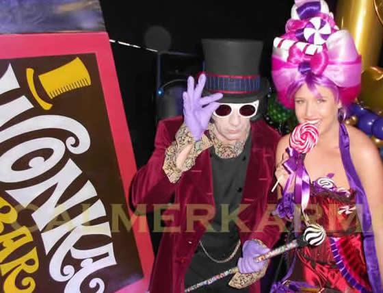 WILLY WONKA THEMED ENTERTAINMENT - WILLY WONKA LOOKALIKE ACT AND WONKA BONKERS CANDY HOSTESS - LONDON & UK