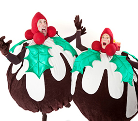 CHRISTMAS THEMED ENTERTAINMENT - THE CRAZY XMAS PUDDINGS ACT TO HIRE