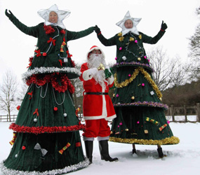xmas tree stilts -CHRISTMAS STILTS TO HIRE