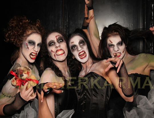 HALLOWEEN DANCERS TO HIRE - THE ZOMBIE DOLLS MANCHESTER, LONDON, BRISTOL