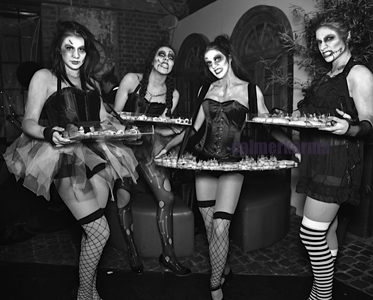 HALLOWEEN THEMED ENTERTAINMENT - THE ZOMBIE DOLLS -CANAPE HOSTESSES